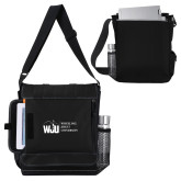 Impact Vertical Black Computer Messenger Bag-WJU