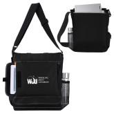 Impact Vertical Black Computer Messenger Bag-WJU