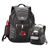 High Sierra Big Wig Black Compu Backpack-Cardinal