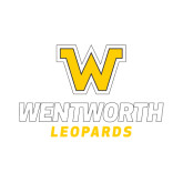 Small Decal-W Wentworth Leopards Stacked