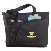 Excel Black Sport Utility Tote-W Wentworth Leopards Stacked