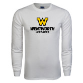 White Long Sleeve T Shirt-W Wentworth Leopards Stacked
