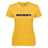 Ladies Gold T Shirt-Wentworth