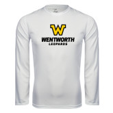 Performance White Longsleeve Shirt-W Wentworth Leopards Stacked