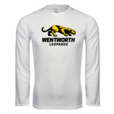 Performance White Longsleeve Shirt-Wentworth Leopards Stacked Leopard