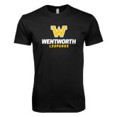 Next Level SoftStyle Black T Shirt-W Wentworth Leopards Stacked