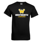 Black T Shirt-W Wentworth Leopards Stacked