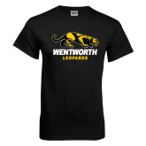 Black T Shirt-Wentworth Leopards Stacked Leopard