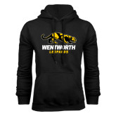Black Fleece Hoodie-Wentworth Leopards Stacked Leopard