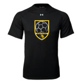 Under Armour Black Tech Tee-Soccer Shield Design