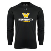 Under Armour Black Long Sleeve Tech Tee-W Wentworth Leopards Stacked