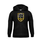 Youth Black Fleece Hoodie-Soccer Shield Design