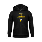 Youth Black Fleece Hoodie-Lacrosse Geometric Design