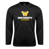 Performance Black Longsleeve Shirt-W Wentworth Leopards Stacked