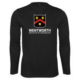 Performance Black Longsleeve Shirt-Shield Logo