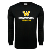 Black Long Sleeve TShirt-W Wentworth Leopards Stacked