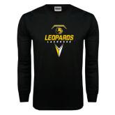 Black Long Sleeve TShirt-Lacrosse Geometric Design