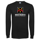 Black Long Sleeve T Shirt-Shield Logo