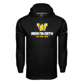 Under Armour Black Performance Sweats Team Hoodie-W Wentworth Leopards Stacked