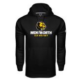 Under Armour Black Performance Sweats Team Hoodie-Ice Hockey