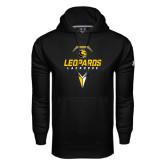 Under Armour Black Performance Sweats Team Hoodie-Lacrosse Geometric Design
