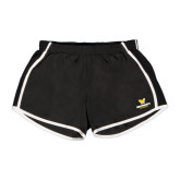 Ladies Black/White Team Short-W Wentworth Leopards Stacked