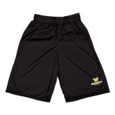 Russell Performance Black 9 Inch Short w/Pockets-W Wentworth Leopards Stacked
