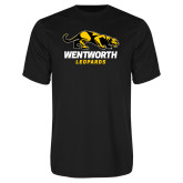 Performance Black Tee-Wentworth Leopards Stacked Leopard