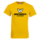 Gold T Shirt-W Wentworth Leopards Stacked