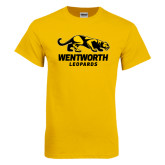Gold T Shirt-Wentworth Leopards Stacked Leopard
