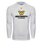 Under Armour White Long Sleeve Tech Tee-W Wentworth Leopards Stacked