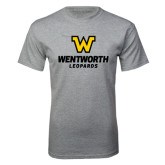 Grey T Shirt-W Wentworth Leopards Stacked