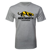 Grey T Shirt-Wentworth Leopards Stacked Leopard