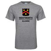 Grey T Shirt-Shield Alumni logo