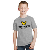 Youth Grey T-Shirt-W Wentworth Leopards Stacked