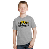 Youth Grey T-Shirt-Wentworth Leopards Stacked Leopard
