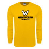 Gold Long Sleeve T Shirt-W Wentworth Leopards Stacked
