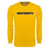 Gold Long Sleeve T Shirt-Wentworth