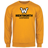Gold Fleece Crew-W Wentworth Leopards Stacked