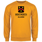 Gold Fleece Crew-Shield Alumni logo