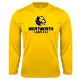 Performance Gold Longsleeve Shirt-Official Logo