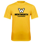 Performance Gold Tee-W Wentworth Leopards Stacked