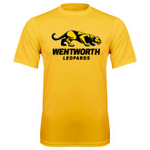 Performance Gold Tee-Wentworth Leopards Stacked Leopard