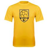 Performance Gold Tee-Soccer Shield Design