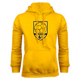 Gold Fleece Hoodie-Soccer Shield Design