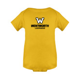 Gold Infant Onesie-W Wentworth Leopards Stacked