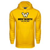 Under Armour Gold Performance Sweats Team Hoodie-W Wentworth Leopards Stacked
