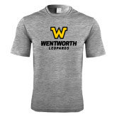 Performance Grey Heather Contender Tee-W Wentworth Leopards Stacked
