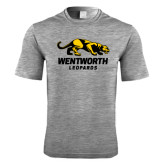 Performance Grey Heather Contender Tee-Wentworth Leopards Stacked Leopard