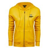 ENZA Ladies Gold Fleece Full Zip Hoodie-W Wentworth Leopards Stacked